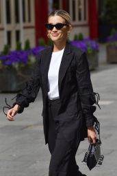Ashley Roberts in Black Trouser Suit - Leaving the Global Studios in London 05/14/2020