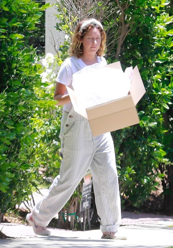 Ashley Tisdale in Casual Outfit - Outside Her Home in Los Feliz 05/08/2020