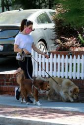 Aubrey Plaza - Takes Her Dogs for a Walk 05/15/2020