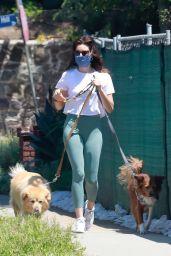 Aubrey Plaza - Walking Her Dogs in Los Feliz 05/03/2020