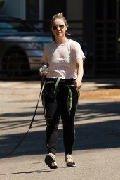 Becca Tobin - Walking Her Dog in LA 04/11/2020