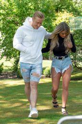 Bianca Gascoigne and Kris Boyson in Their Local Park 05/18/2020