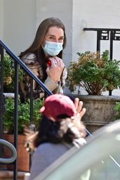 Brooke Shields - Sitting on Her Front Stoop in NYC 05/14/2020