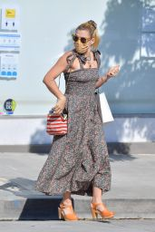 Busy Philipps in Floral Dress - Running Errands in West Hollywood 05/27/2020