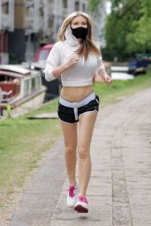 Caprice Bourret in a Crop Top and Tiny Shorts 05/20/2020