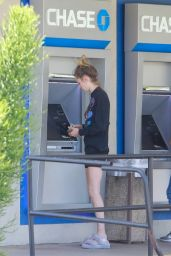 Cara Delevingne Looks Sombre in An All-Black Ensemble at an ATM in LA 05/17/2020