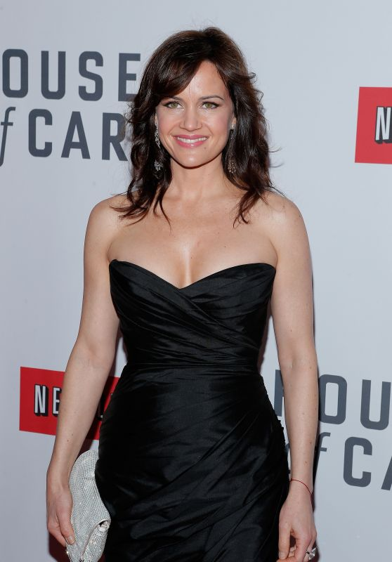 "Carla Gugino - ""House of Cards"" Premiere in NYC"