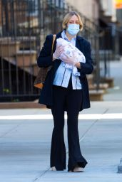 Chloe Sevigny - Out For The First Time With Her Newborn Baby Boy and Boyfriend in NYC 05/13/2020