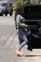 Christina Milian in Tights - Los Angeles 05/14/2020