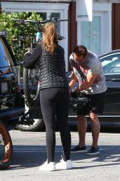 Christina Schwarzenegger, her Son and Arnold Schwarzenegger 05/19/2020