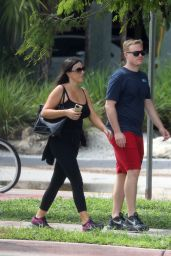 Claudia Romani and Chris Johns - Out in Miami Beach 05/23/2020