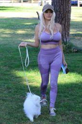 Courtney Stodden - Walks Her Dog in Moorpark in Studio City 05/28/2020