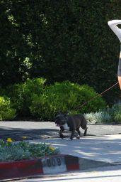 Delilah Hamlin and Amelia Hamlin - Walking Their Dog in Beverly Hills 05/01/2020