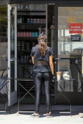 Eiza Gonzalez in Sports Top and Skintight Leggings 05/19/2020