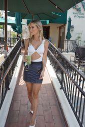 Ella Rose in Mini Skirt - Outside Starbucks in Beverly Hills 04/29/2020