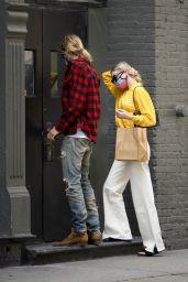 Elsa Hosk Street Fashion - Returning to Aer Apartment in NYC 05/27/2020