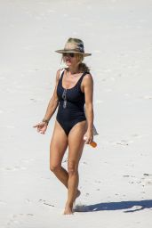 Elsa Pataky in a Swimsuit at Byron Bay, April 2020