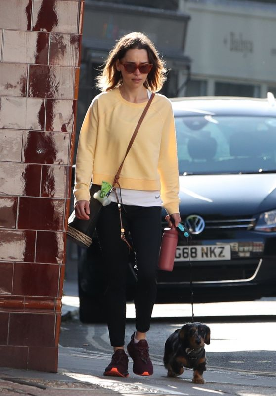 Emilia Clarke in Casual Outfit - London 05/20/2020