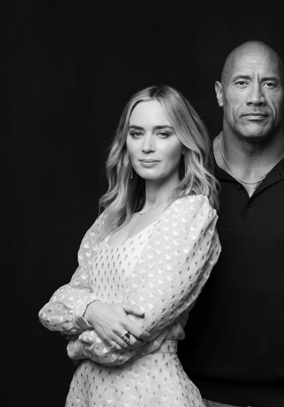 Emily Blunt and Dwayne Johnson - Photoshoot for The Hollywood Reporter May 2020