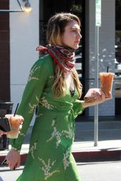 Emma Fuhrmann in Street Outfit - Getting coffee in Beverly Hills 05/08/2020