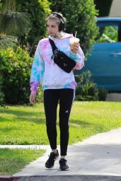 Emma Roberts in Soccer Pants 05/19/2020