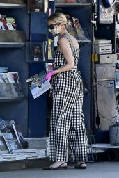 Emma Roberts in Street Outfit - Studio City 05/08/2020