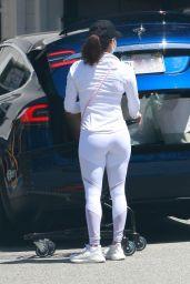 Eva Longoria in White Workout Outfit 05/24/2020