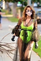 Farrah Abraham in a Neon Green Swimwear - LA 05/18/2020