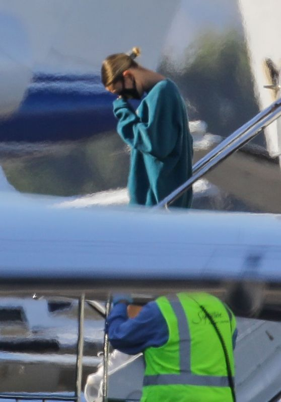 Hailey Bieber and Justin Bieber - Van Nuys Airport in Los Angeles 05/20/2020