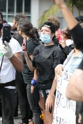 Halsey - Protesting in West Hollywood 05/30/2020