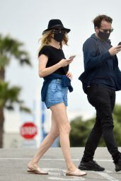 Heather Graham Leggy in Shorts - Santa Monica 04/30/2020