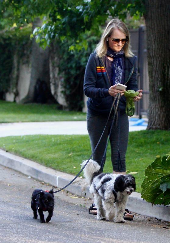 Helen Hunt in Leggings - Out in Brentwood 05/11/2020