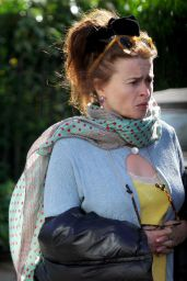 Helena Bonham Carter in a Colourful Outfit - London 05/14/2020