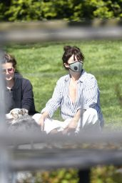 Helena Christensen in a Park in NY 05/13/2020