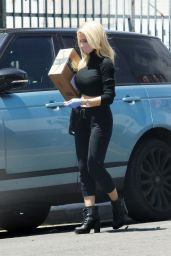 Holly Madison in an All-Black Outfit 05/14/2020