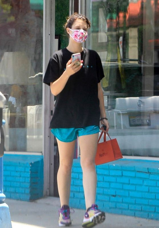 India Eisley in Shorts - Walking in West Hollywood 05/28/2020