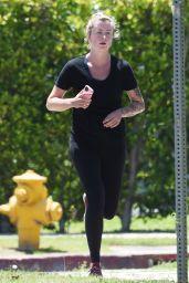 Ireland Baldwin Make-up Free - Jogging in LA 05/15/2020