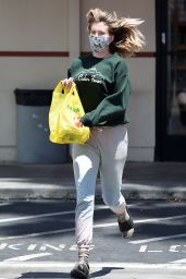 Ireland Baldwin With a Puppy-Print Face Mask 05/19/2020