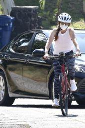 Isla Fisher - Riding Her Bike in LA 05/09/2020