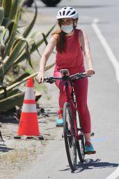 Isla Fisher - Riding Her Bike in LA 05/14/2020