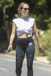 Jennifer Meyer in Tights - Out in Santa Monica 05/04/2020