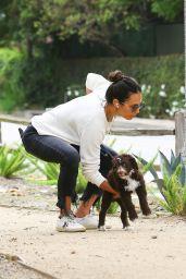 Jordana Brewster – Takes Her Dog for a Walk 05/10/2020