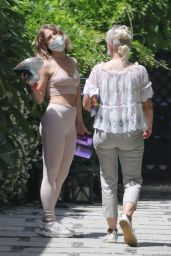 Julianne Hough in Crop Top and Leggings Out in LA 05/17/2020