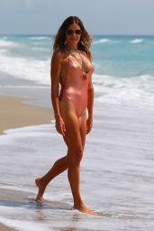 Kelly Bensimon in Swimsuit Enjoying the Beach and Ocean 05/26/2020