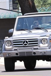 Kendall Jenner in Her G-Wagon in Los Angeles 05/25/2020