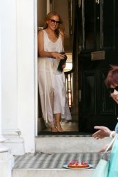 Kylie Minogue in Semi-Sheer Dress at Her Home in London 05/28/2020