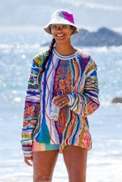Lais Ribeiro on the Beach in Malibu 05/26/2020