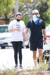 Lea Michele - Walk With Her Husband in LA 05/13/2020