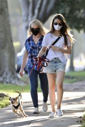 Lily Collins in Casual Chic Outfit - with her mother Jill Tavelman in LA 05/08/2020