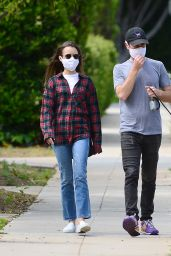 Lily Collins - Stroll in Beverly Hills 05/12/2020
